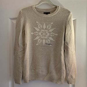 Tommy Hilfiger cream snowflake sweater